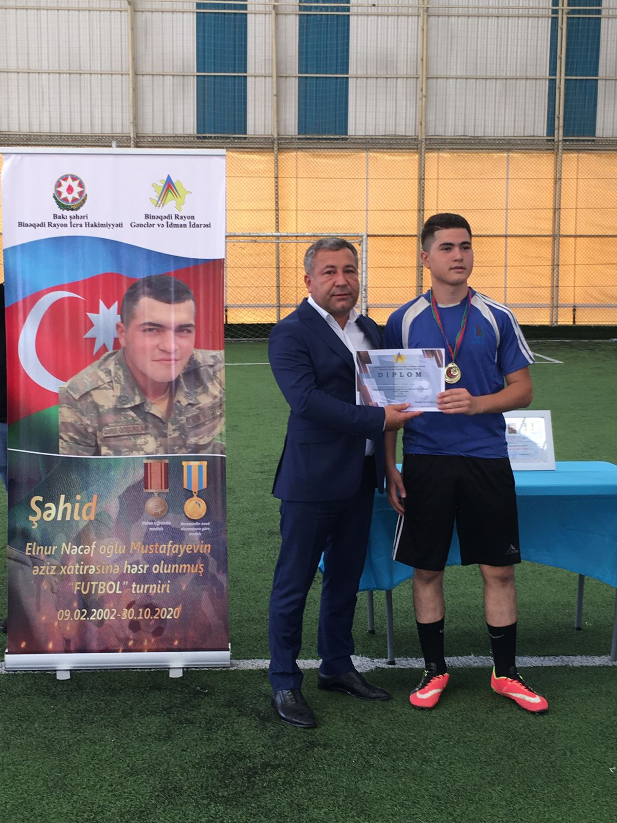 Şəhid Elnur Mustafayevin xatirəsinə futbol turniri keçirilib